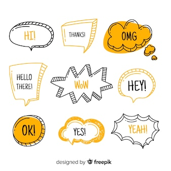 Speech balloons with modern expressions