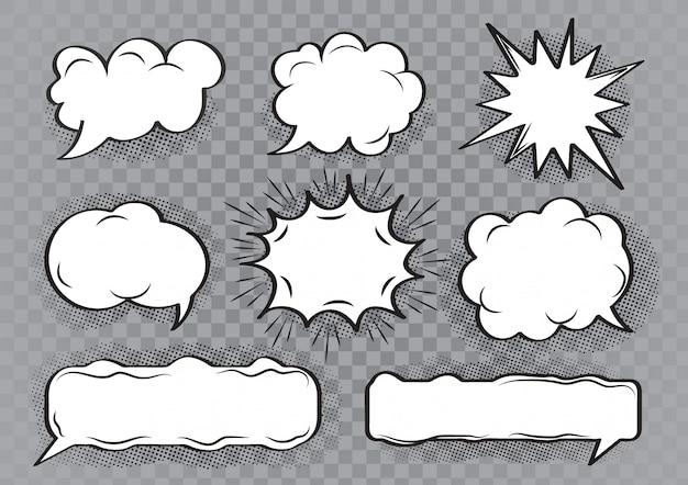Speech bubble cartoon set