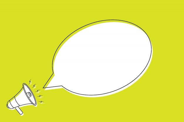 Speech bubble in cartoon style. Premium Vector