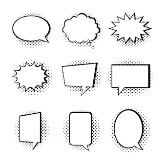 Speech bubble collection isolated on white background.