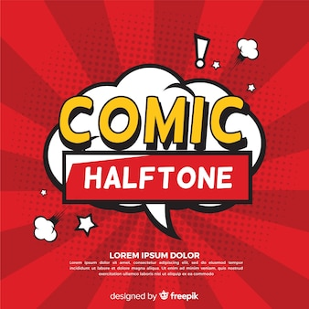 Speech bubble comic halftone background