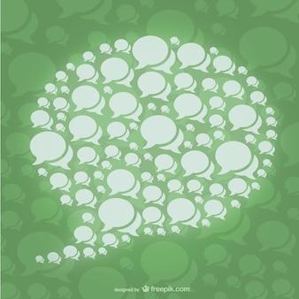 Speech bubble concept vector