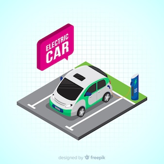 Speech bubble electric car background