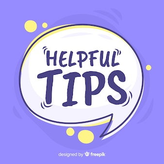 Speech bubble helpful tip background