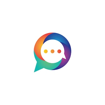 Speech bubble logo template vector icon design