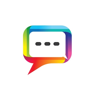 Речи пузырь логотип