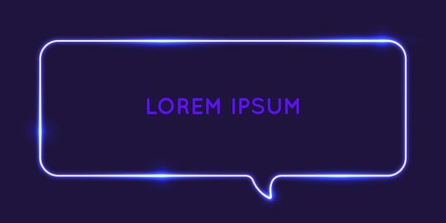 Speech bubble neon glow against a dark background