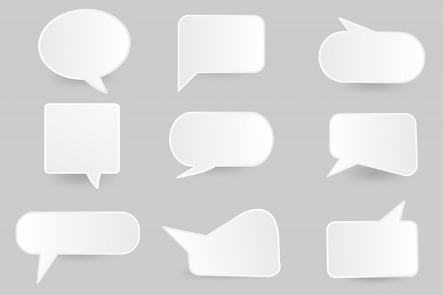 Speech bubble paper cut  design template.