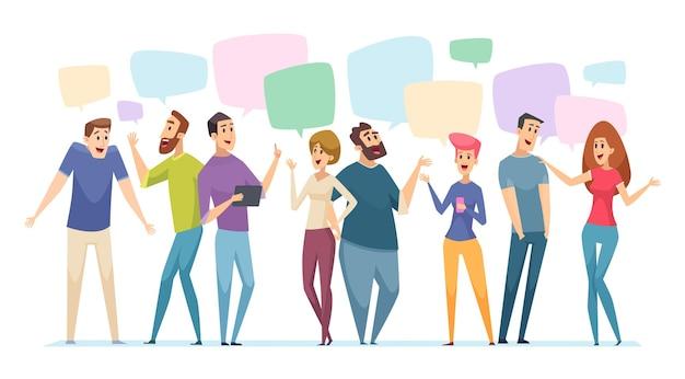 Speech bubble over people talking
