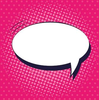 Speech bubble pop art style