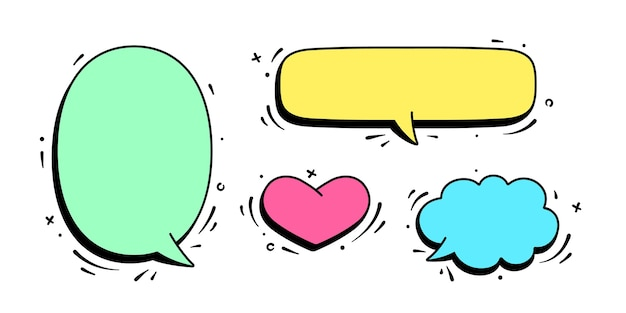 Speech bubble. set of chat message, cloud talk, speech bubble
