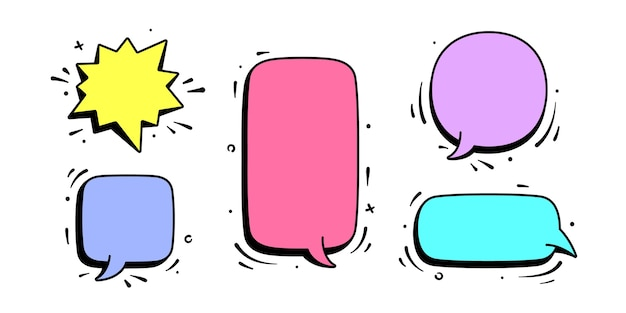 Диалоговое окно. набор сообщений чата, облачного разговора, речи пузырь