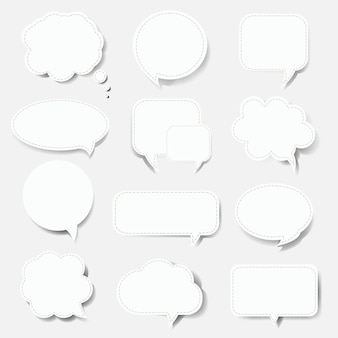 Speech bubble set white background with gradient mesh