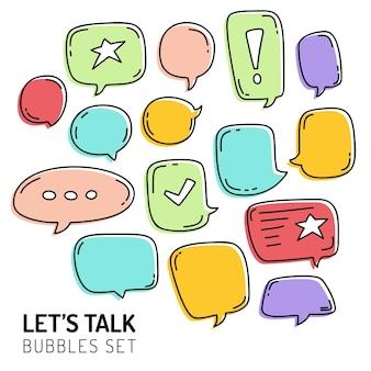 Speech bubble talk doodle sketch hand draw