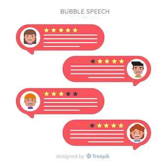 Speech bubble testimonial concept