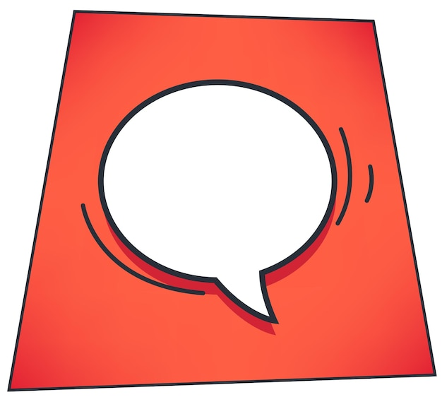 Speech bubble or thought cloud for expressing ideas. empty banner with copy space for text. comics book style of message cloud or dialog chatting box. communication and talking vector in flat