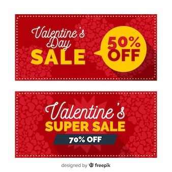 Speech bubble valentine sale banner