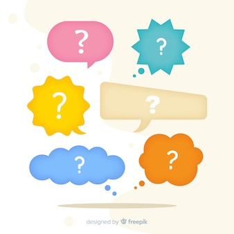 Speech bubble with question marks