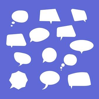 Speech bubbles. comic vector speech box