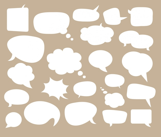 Speech bubbles for comics and text.