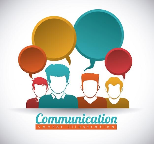Speech bubbles communication
