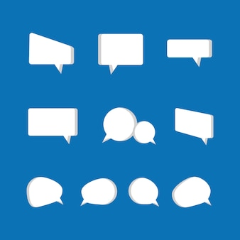 Speech bubbles icon set