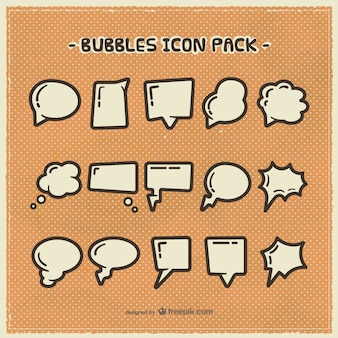 Speech bubbles icons pack
