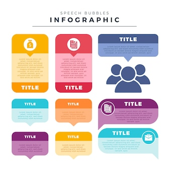 Speech bubbles infographics template