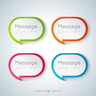 Speech bubbles in modern style