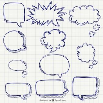 Speech bubbles pack Free Vector
