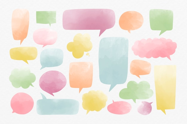 Speech bubbles set
