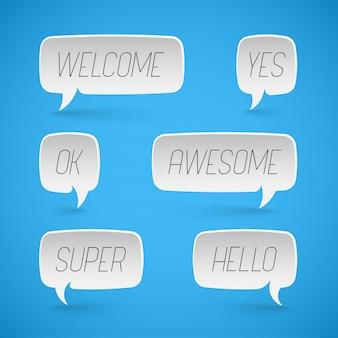 Speech bubbles shapes for design, promotion