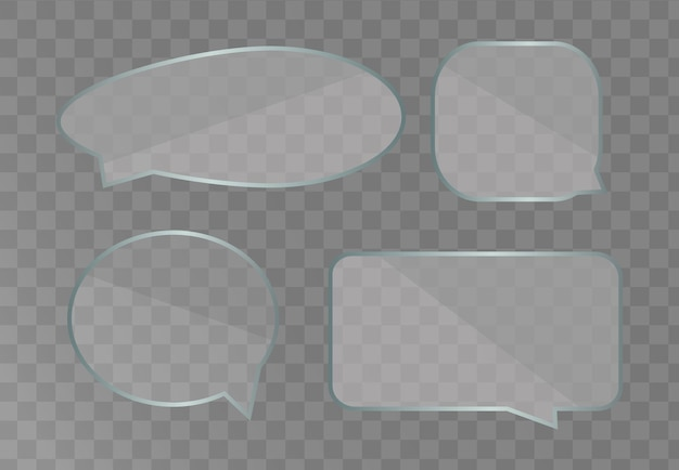 Speech bubbles template isolated on white background