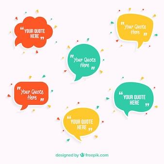 Speech bubbles template
