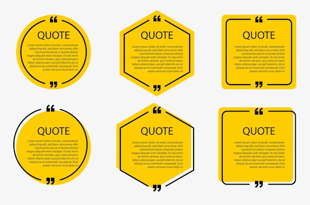 Speech bubbles templates and communication quote frames