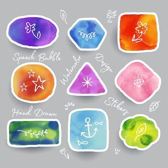 Speech bubbles in watercolor