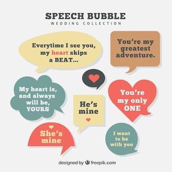 Bolle di discorso con i messaggi