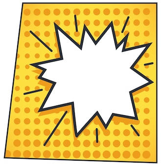 Speech or dialog bubble expressing exclamation or shouting. comic books cloud with copy space for text. sticker for thoughts or line. pop art or sticker for surprise message. vector in flat style