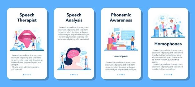 言語聴覚士のコンセプト。教訓的な修正と治療のアイデア。患者の健康を気遣う医師。治療と回復。