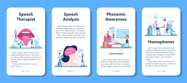 Speech therapist concept. didactic correction and treatment idea. doctor caring about patient health. medical treatment and recovery.