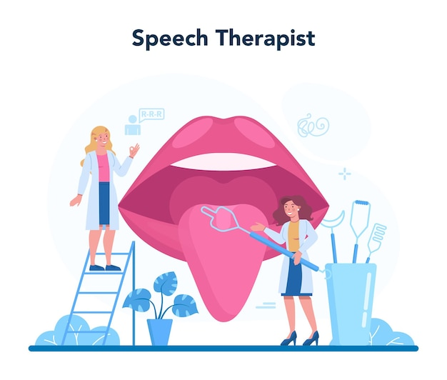 Speech therapist concept illustration