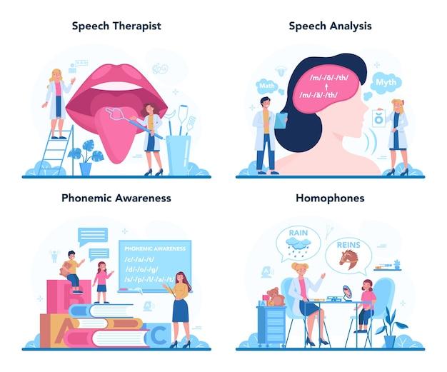 Speech therapist concept.