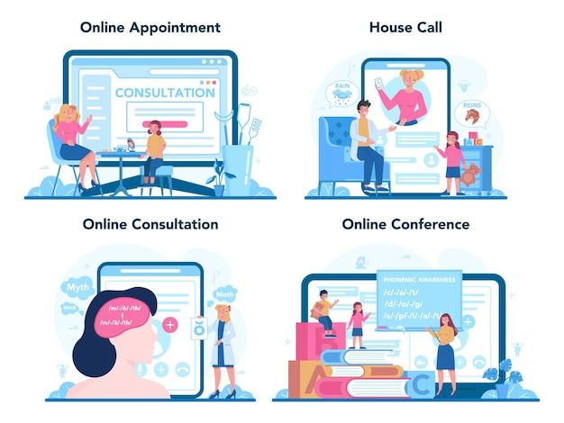 Speech therapist online service or platform