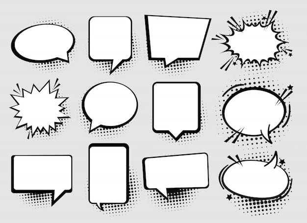 Speech or thought bubbles