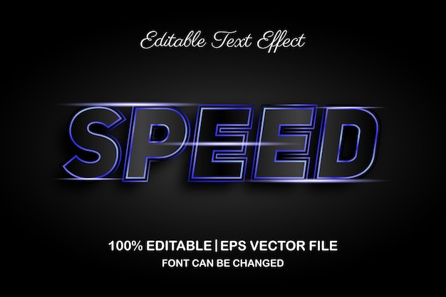 속도 3d 편집 가능한 텍스트 효과