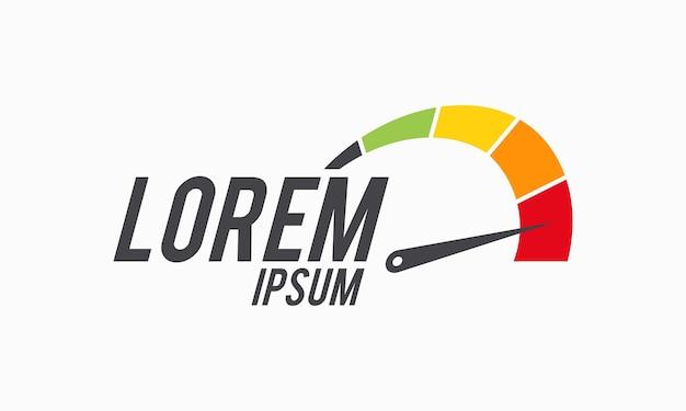 Вектор дизайна логотипа скорости и скорости, шаблон дизайна логотипа спидометра