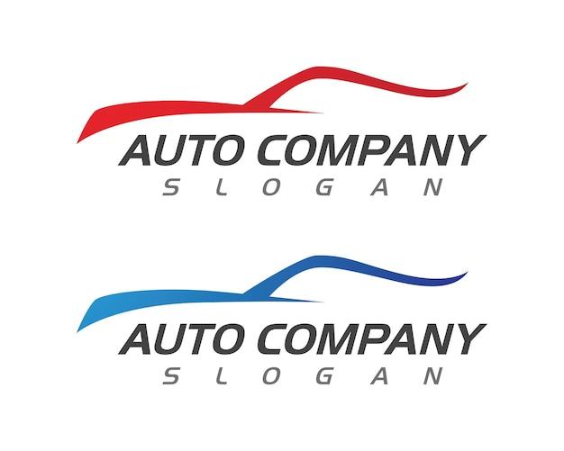 スピードオートカーロゴテンプレートベクトルイラストアイコンデザイン