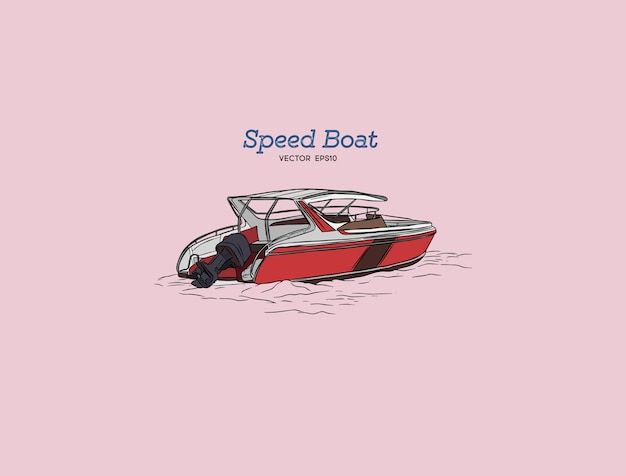 Speed boat.