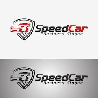 Speed car auto logo