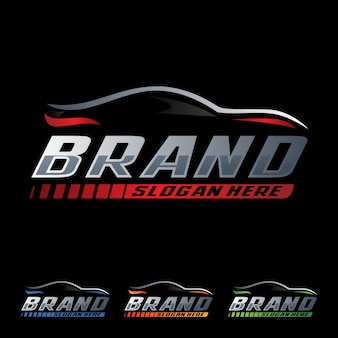 Speed car racing logo template